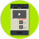 app, mobile, player, video, video player icon icon