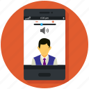 call, camera, communication, mobile, skype app, smartphone, video call icon icon