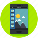 gallery, images, mobile app, photography, photos, pictures, smartphone icon icon