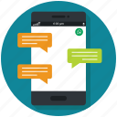 chat, communication, connection, message, mobile, phone, sms icon icon