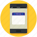 app, application, calendar, mobile, phone, smartphone icon icon
