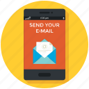 chat, email, mail, message, mobile app, smartphone, sms icon