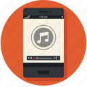 audio, device, mobile, music, play, player icon icon