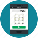 call, communication, dial, dial number, mobile, phone icon icon