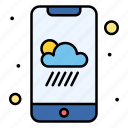 smartphone, weather, app
