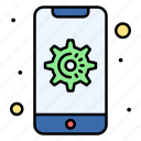 gear, mobile, setting, device