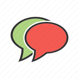 chat, communicate, contact, conversation, message bubbles, sms, talk icon