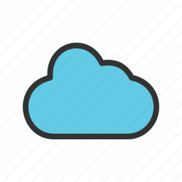 businessman, cloud, computer, computing, concept, technology icon