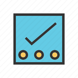 checklist, list, notes, points, reminders, tasks, tick icon