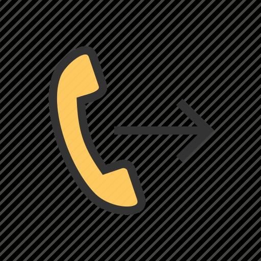 call, call forwarding, communication, craddle, forward, phone, talk icon
