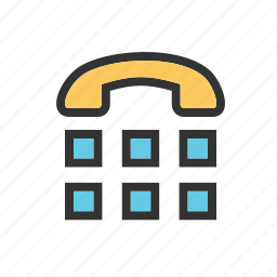 buttons, call, communicate, craddle, message, telephone, type icon