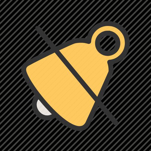 alarm, alert, bell, mute, notification, silent, volume icon