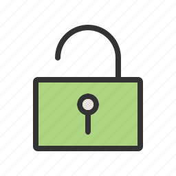 key, keyhole, lock, open, safety, security, unlocked icon