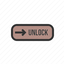 device, locked, secure, slider, smartphone, technology, unlock icon