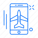 airplane, app, mobile, phone icon