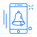 app, bell, mobile, phone icon
