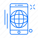 app, globe, mobile, phone icon