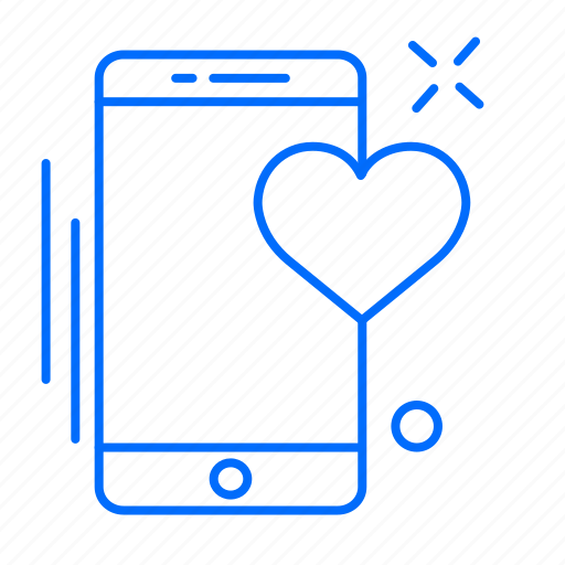 app, heart, love, mobile, phone icon