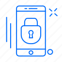 app, locked, mobile, phone icon