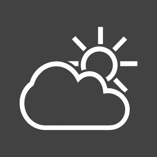 climate, cloud, shiny, sun, sunny, weather icon