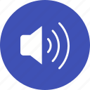 audio, loud, play, sound, speaker, volume, wave icon
