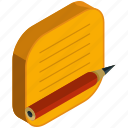 application, apps, mobile, note, notepad, pencil icon