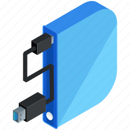 application, apps, cable, drive, mobile, storage icon