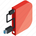 cable, mobile, apps, storage, drive, application icon