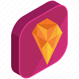 application, apps, diamond, jewel, jewellery, mobile, value icon