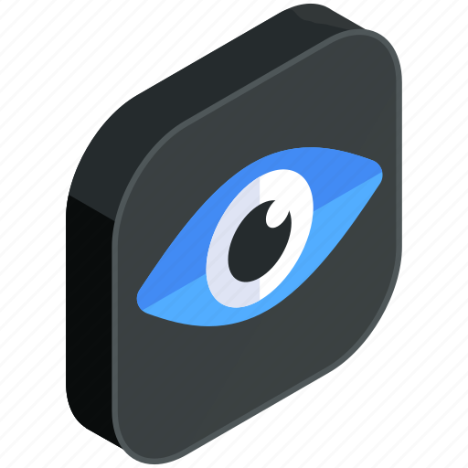 application, apps, eye, mobile, view, visibility, vision icon
