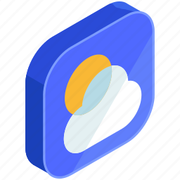 application, apps, cloud, forecast, mobile, sun, weather icon