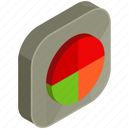application, apps, chart, graph, mobile, pie, statistics icon