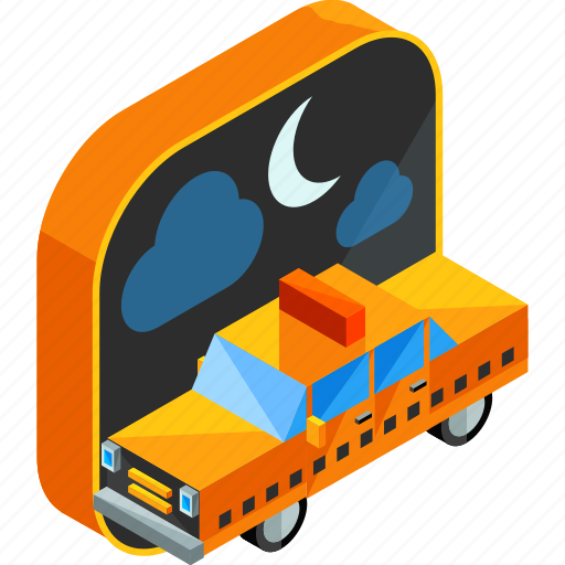 apps, car, mobile, night, service, taxi, vehicle icon