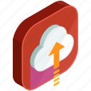apps, arrow, cloud, mobile, storage, up, upload icon