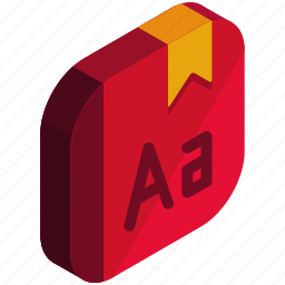 alphabetic, application, apps, bookmark, mobile icon