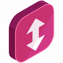 application, apps, arrows, down, mobile, move, up icon