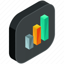 application, apps, bars, chart, mobile, statistics icon
