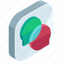 application, apps, chat, chatting, conversation, mobile, text icon