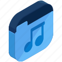 application, apps, folder, media, mobile, multimedia, music icon