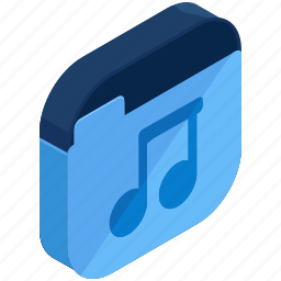 application, apps, folder, media, mobile, multimedia, music icon