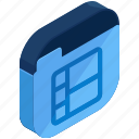 application, apps, chart, folder, mobile, shapes icon