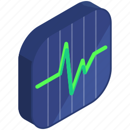 application, apps, chart, line, mobile, statistics icon