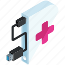 application, apps, drive, medical, mobile, storage icon