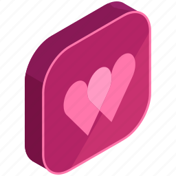 application, apps, dating, favourite, hearts, mobile icon