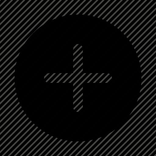 add, circle, create, file, new, plus, round icon