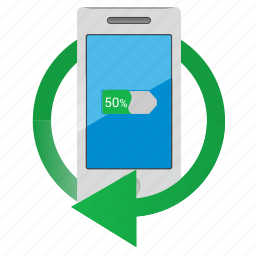 battery, charge, charging, energy, mobile, smartphone icon