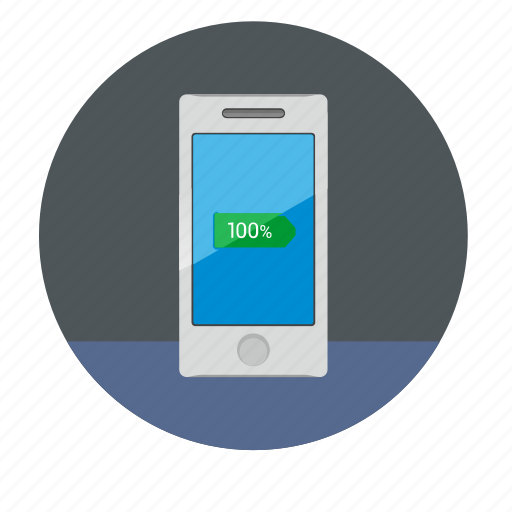 battery, charge, device, full, mobile, phone, smartphone icon