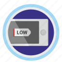 battery, charge, device, energy, low, phone, smartphone icon