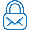 company, lock, message, modern, personal, safety, work icon