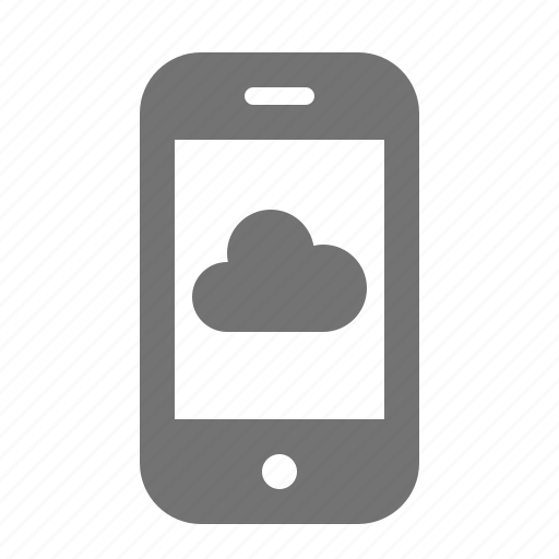 backup, cloud, data, device, phone, portable, smart icon